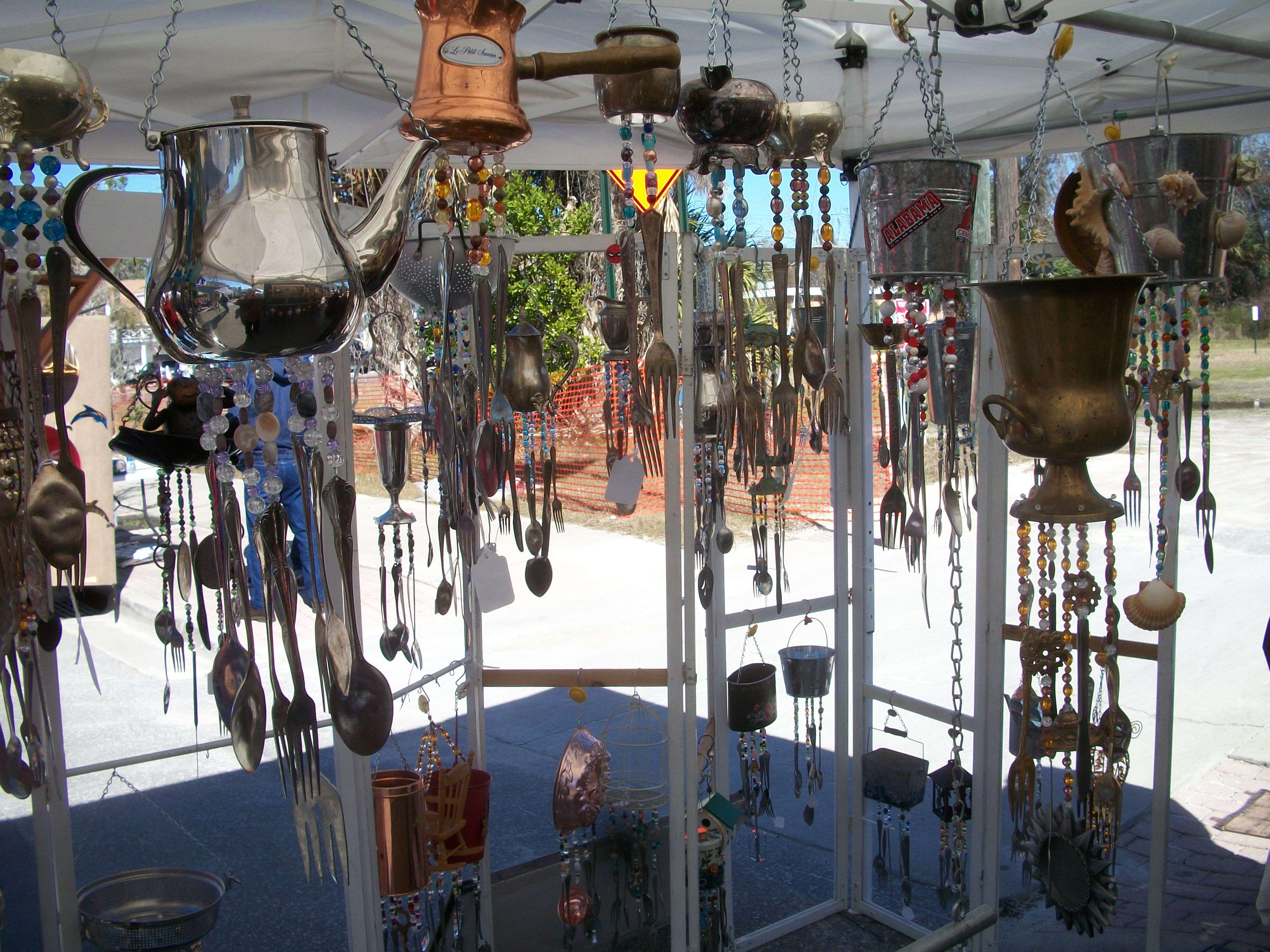 Best of chimes windchimes and home decor made from for Home decor using waste